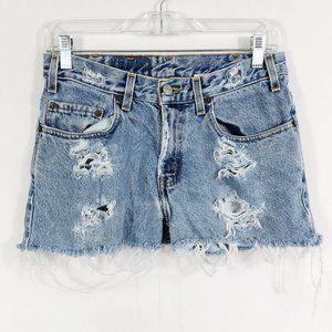 Levi's Vintage 550 Heavily Distressed Jean Shorts